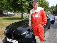 Nick Mason with the Maserati Quattroporte Sport GTS