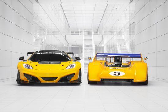 McLaren M8D Can-Am Racer And McLaren 12C GT Can-Am Edition