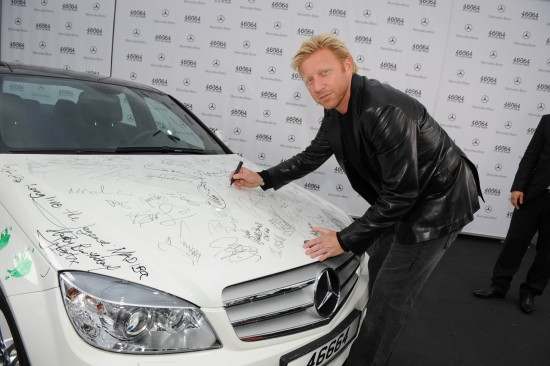 Mercedes-Benz C350 Autographed By Stars
