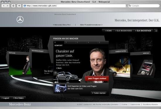 Mercedes Benz Presents an Interactive Web Special