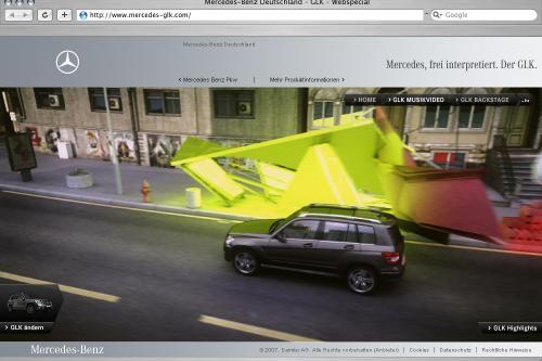 Mercedes-Benz представлена Интерактивная специального веб-сайта для продвижения GLK, рынок