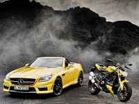 thumbnail image of Mercedes-Benz SLK 55 AMG and Ducati Streetfighter 848