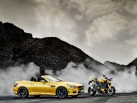Mercedes-Benz SLK 55 AMG and Ducati Streetfighter 848, 3 of 4