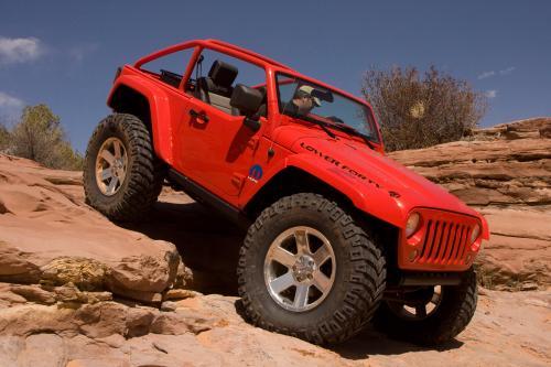 Mopar с шести индивидуальные транспортные средства в Moab Jeep Safari 2009