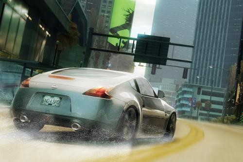 Все-Новый 2009 Nissan Z делает iIts мировой дебют в EA Need For Speed Undercover