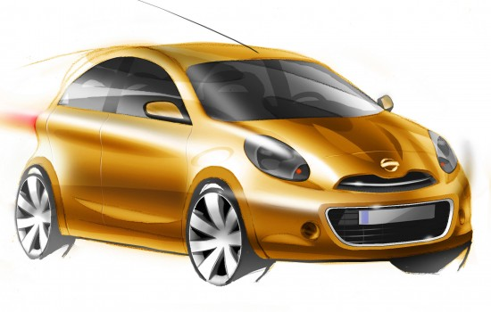 Nissan Global Compact Car sketches