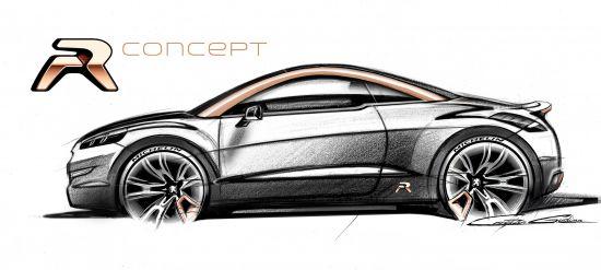 Peugeot RCZ R Concept Sketch
