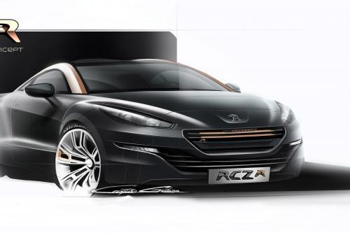 Peugeot RCZ R Concept делает Международный дебют в Гудвуде
