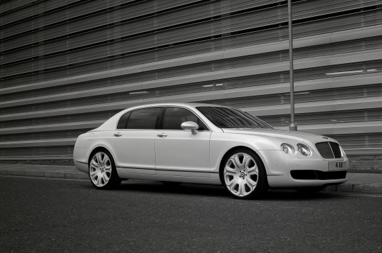 Project Kahn Pearl White Bentley Flying Spur