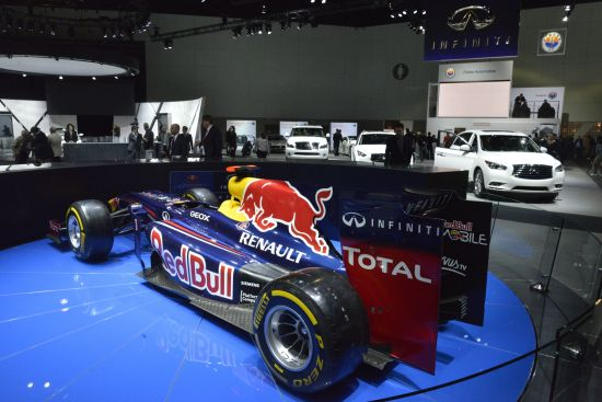 Red Bull Racing F1 car Los Angeles