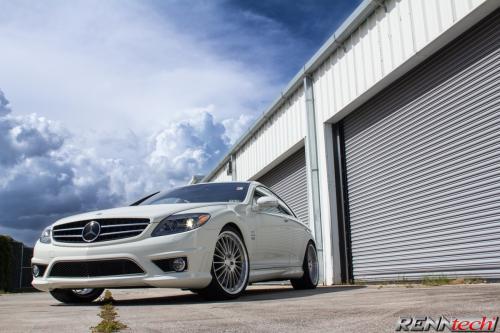 RENNtech Mercedes-Benz CL 65 С Multi говорил кованые колесные диски в серебро Перл