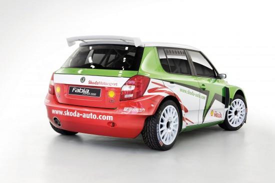Skoda Fabia Super 2000 factory team car