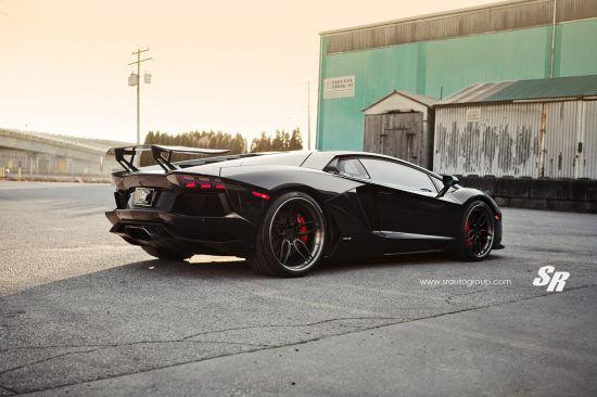 SR Auto Lamborghini Aventador Black Bull