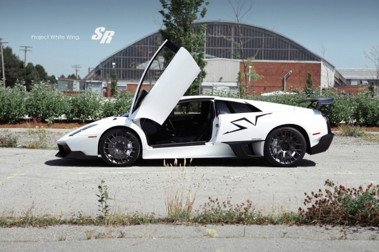 SR Auto White Wing Lamborghini Murcielago SV