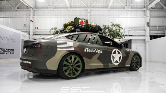SS Customs Tesla Model S TeslaVets Project