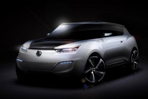 SsangYong e-XIV Concept открыться в Париже