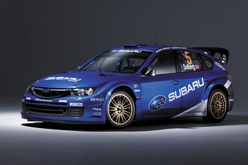 """Последние Мировые ралли автомобиль """"Subaru Impreza WRC 2008"""" стартует в Греции"""