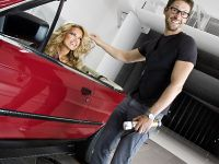 thumbnail image of Sylvie van der Vaart in BMW wind tunel