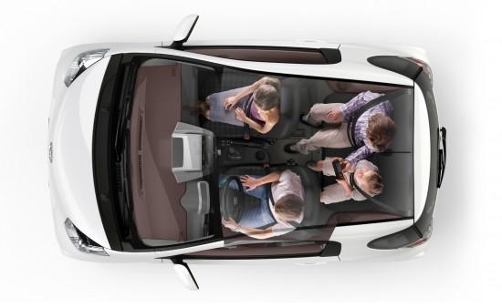 Toyota iQ - Slim Seat design