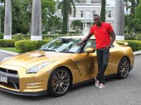 Usain Bolt Golden Nissan GT-R, 2 of 14