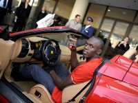 Usain Bolt in Ferrari F430 Spider