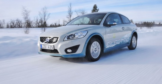Volvo C30 Electric Winter Tests